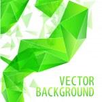 Green triangle abstract vector — Stock Vector #7311768