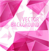 Magenta triangle abstract — Stock Vector