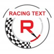 Racing emblem with a place for your sample text — Stock Vector