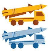 Military missile vehicle cartoon — Stock Vector