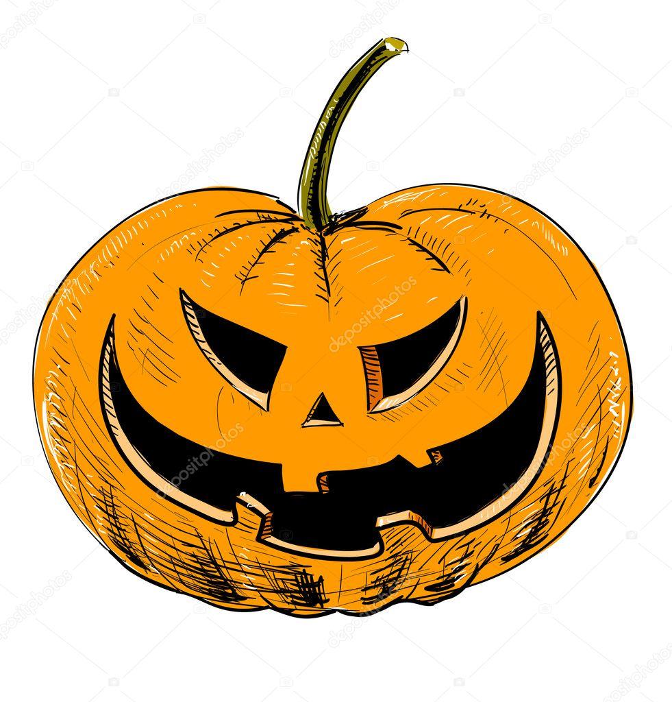 Couleur de la citrouille d 39 halloween image vectorielle chuhail 7352479 - Citrouille halloween dessin couleur ...