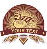 Wheat bread template. Just add your text! — Stock Vector