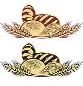 Wheat bread vector illustration — Stock Vector