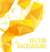 Yellow gold triangle abstract vector background — Stock Vector