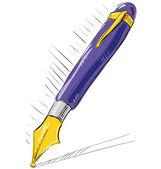 Ink pen — Stock Vector