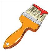 Pinsel malerei kolorierte zeichnung — Stockvektor