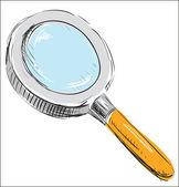 Zvětšovací sklo hledání — Stock vektor