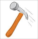 Hammer icon color sketch — Stock Vector