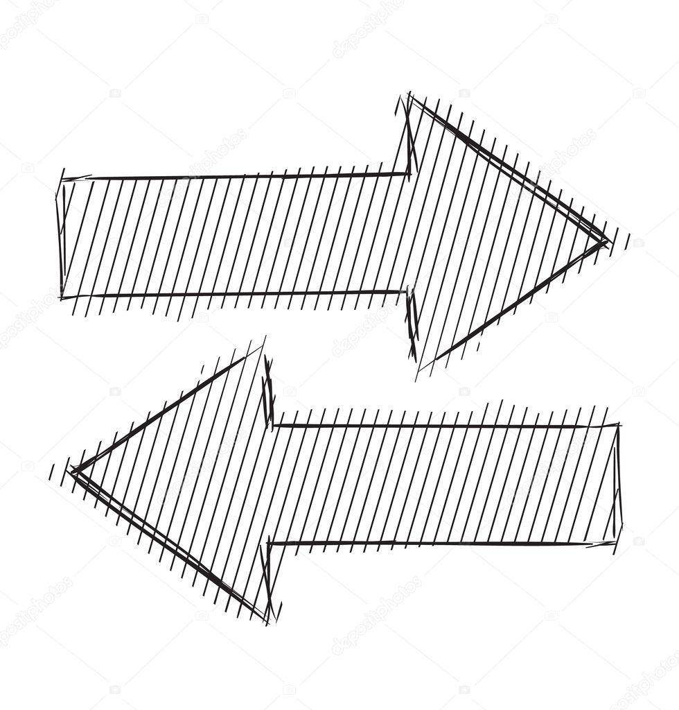 Line Art Arrow : Arrows icon forward backward — stock vector chuhail