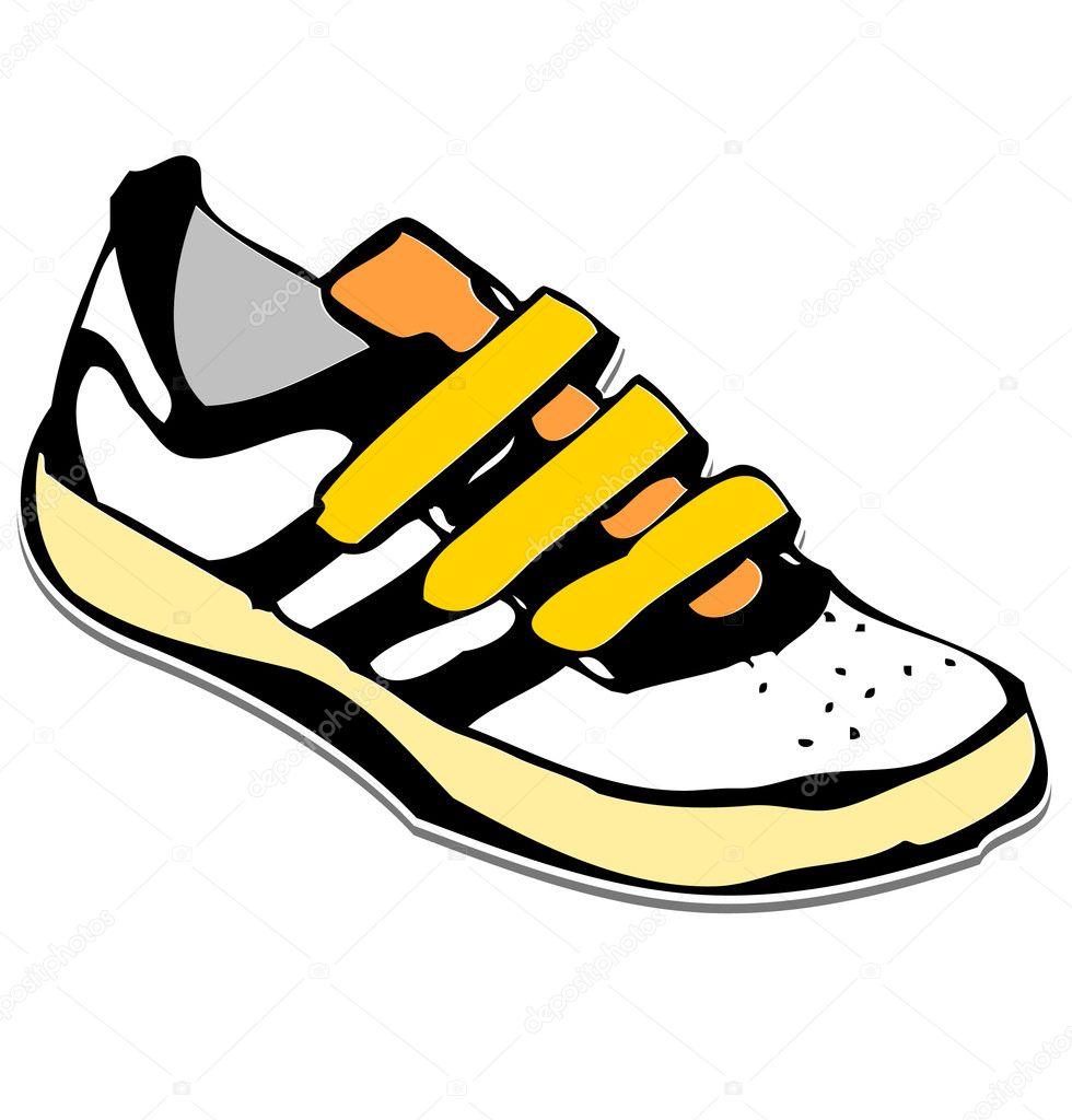 Sneakers Cartoon Cartoon sneakers shoe - stock