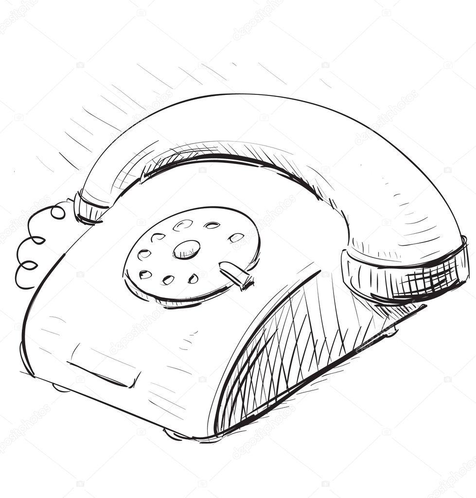 复古电话 — 图库矢量图像08