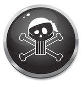 Pirate black glossiness bomb — Stock Vector