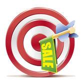 Darts target aim with arrow — Stock Vector