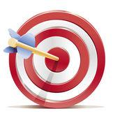 Target detailed vector illustration — Stock Vector