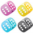 Lucky dices in vector — Stock Vector