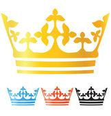 Vector crown illustration — Stock Vector