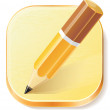 Pencil icon on textured plane — Stockvectorbeeld