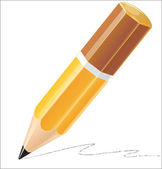Pencil vector illustration — Vettoriale Stock