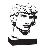 Apollo classic bust and head — Stock Vector