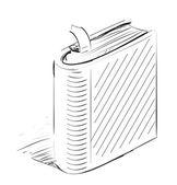 Closed book sketch — Stock Vector