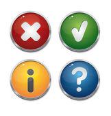 Um conjunto de botões brilhantes — Vetorial Stock