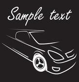 Car racing auto logo line art — Stock Vector