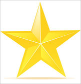 Vector icon of glossy yellow star — Stock Vector
