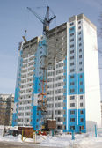 Construction of a multi-storey apartment house. — Stock Photo