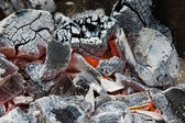 Close up of coals. — Stock Photo