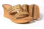 Cork shoes. — Stock Photo