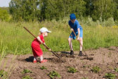 Jovens agricultores. — Foto Stock