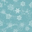 Snowflakes pattern — Stock Vector