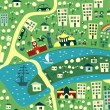 Seamless map of Moscow — Vector de stock  #6856818