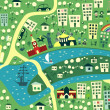 Royalty-Free Stock Immagine Vettoriale: Seamless map of moscow in vector