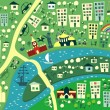 Cartoon map of Moscow — Vector de stock  #6856832