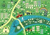 Karikatür moskova haritası — Stok Vektör