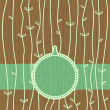 Wooden seamless pattern and banner - Vettoriali Stock 