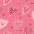 Royalty-Free Stock Imagem Vetorial: Cute valentines day background