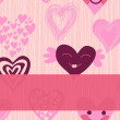 Royalty-Free Stock Imagem Vetorial: Love seamless pattern banner
