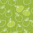 Green apples seamless pattern — Stock Vector