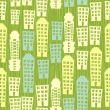 City seamless pattern - Vettoriali Stock 