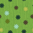 Grass and flower seamless pattern — Stock Vector