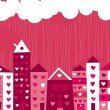 Royalty-Free Stock Vector Image: Seamless city in love background