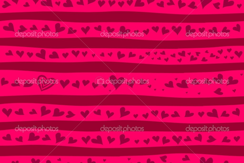 Seamless love background with banner  Stock Vector #7656157