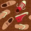Seamless shoes pattern — Stok Vektör #7804292