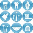 Teeth icons — Stockvektor #7804327