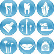 Teeth icons — Vettoriale Stock #7804327