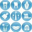 Teeth icons — Stock Vector
