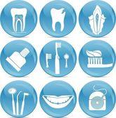 Iconos de los dientes — Vector de stock