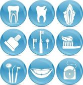 Teeth icons — Vettoriale Stock